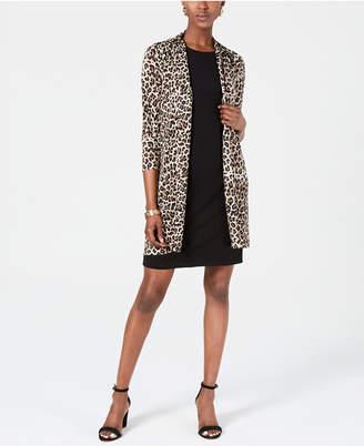 Jessica Howard Animal-Print Jacket & Shift Dress
