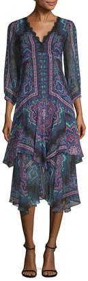Nanette Lepore Ruffle Midi Dress