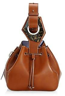 Ganni Women's Small Leather Bucket Bag