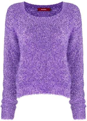 Sies Marjan Courtney lamé cropped sweater