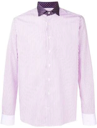 Etro printed collar shirt