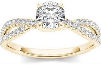 Imperial Diamond Imperial 1 Carat T.W. Diamond Split Shank Classic 14kt Yellow Gold Engagement Ring