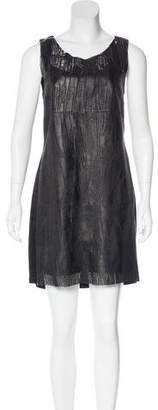 Illia Laser Cut Leather Dress