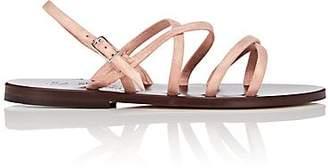 K. Jacques Women's Datura Metallic Suede Sandals - Peach Size 5