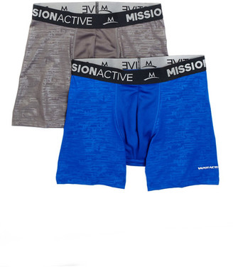 Mission VaporActiive Performance Boxer Brief - Pack of 2 $29 thestylecure.com