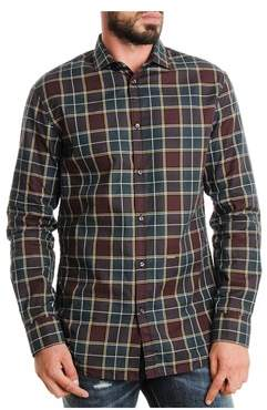 DSQUARED2 Men's Red/green Cotton Shirt.