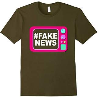 Funny Colorful Fake News T-Shirt