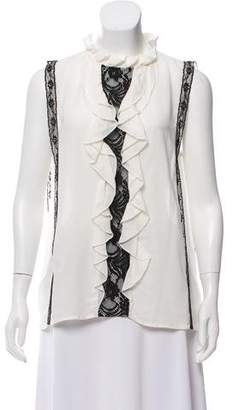 Pinko Lace-Accented Sleeveless Top