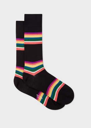 Paul Smith Men's Black Colour-Block Stripe Socks