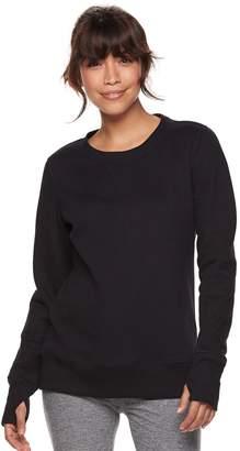 Tek Gear Petite Fleece Thumb Hole Sweatshirt