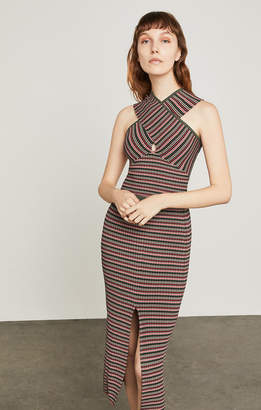 BCBGMAXAZRIA Stripe Ribbed Pencil Skirt