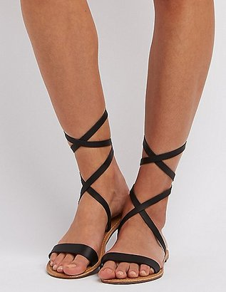 Strappy Ankle Wrap Sandals $7.99 thestylecure.com