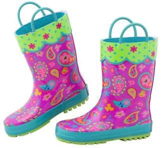Stephen Joseph All Over Paisley Print Rain Boot