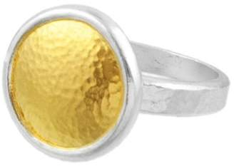 Gurhan Two-Tone Amulet Round Ring - Size 7