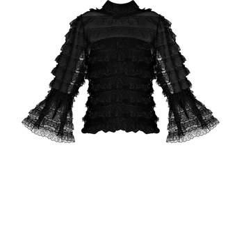 Bambah Lace Victorian Ruffle Blouse