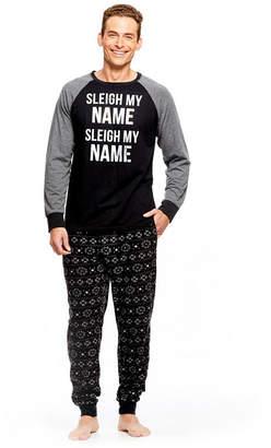 HOLIDAY #FAMJAMS Holiday #FAMJAMS Black and Grey Fairisle 2 Piece Pajama Set -Men's