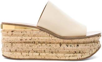 Chloé Platform Sandals in Mild Beige | FWRD