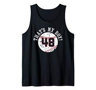 Unique That's My Boy Baseball Player Mom or Dad Gifts Tank Top