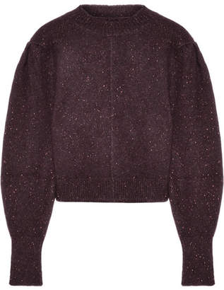 Isabel Marant Elaya Cropped Knitted Sweater - Burgundy
