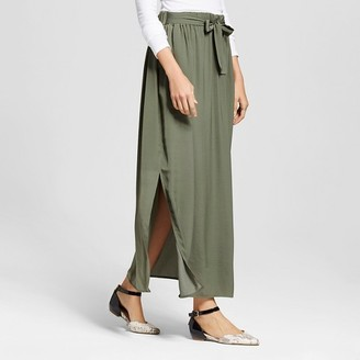 Mossimo Women's Woven Maxi Skirt with Tie Waist - Mossimo $22.99 thestylecure.com