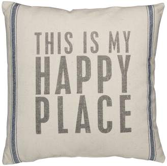 Primitives by Kathy Happy Place Beach Pillow - 20 Square