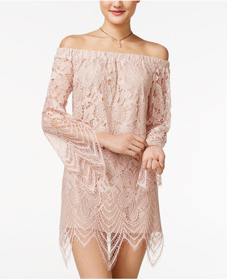 American Rag Off-The-Shoulder Lace Shift Dress, Only at Macy's $69.50 thestylecure.com