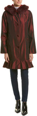 Sofia Cashmere Sofiacashmere Reversible Wool-Blend Raincoat