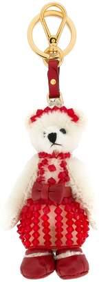 Prada Teddy Bear keychain