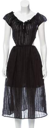 Reformation Open Back Sleeveless Dress