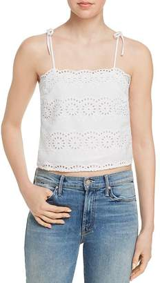 Aqua Eyelet Cropped Top - 100% Exclusive