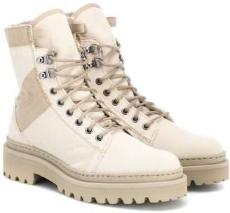 Balmain Canvas ankle boots