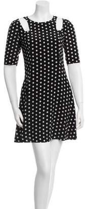Patrizia Pepe Silk Polka Dot Dress w/ Tags