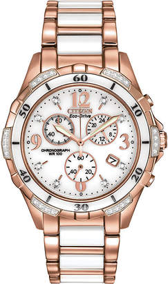 Citizen Eco-Drive Womens Diamond-Accent Chronograph Sport Watch FB1233-51A