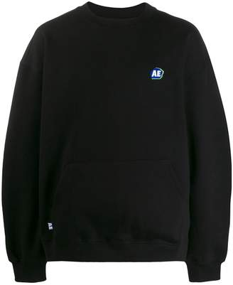 Ader Error logo embroidered front pocket sweatshirt