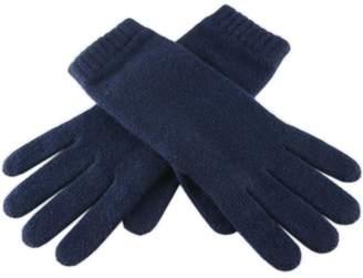 Black Ladies' Navy Blue Cashmere Gloves