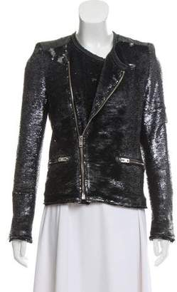 IRO Sequin Zip-Up Jacket