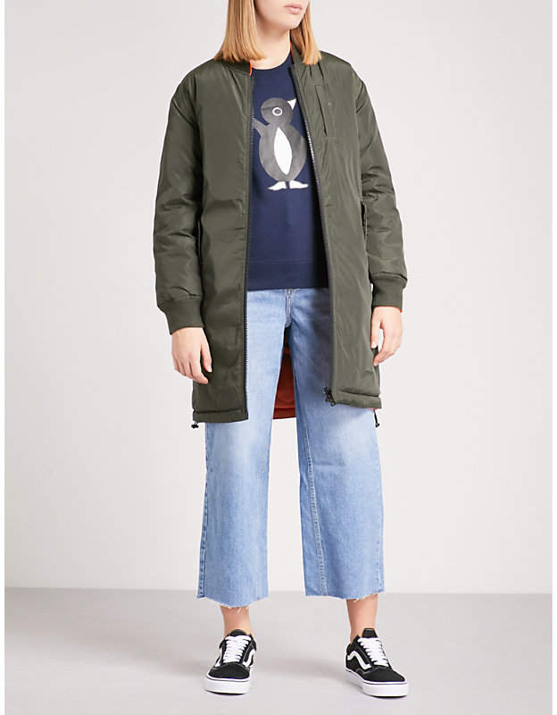 Chocoolate Reversible quilted shell coat