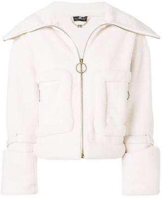 Elisabetta Franchi wide lapel zipped jacket