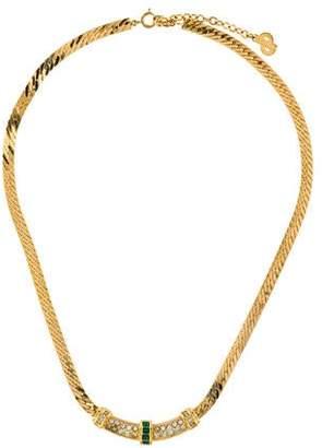 Christian Dior Crystal Link Necklace