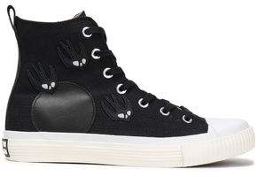 McQ Appliqued Canvas High-top Sneakers