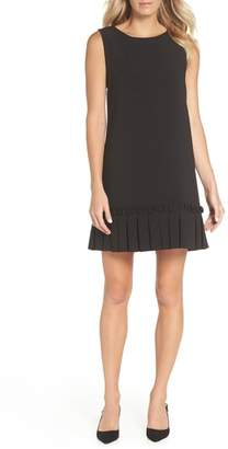 Tahari Pleated Shift Dress