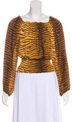 MICHAEL Michael Kors Animal Print Silk Blouse
