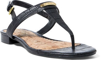 Ralph Lauren Lauren Valla Croc-Embossed Sandal $69 thestylecure.com