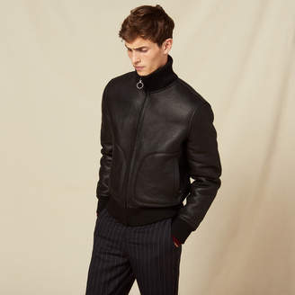 Sandro Sheepskin zipped jacket