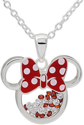 DISNEY Disney White Cubic Zirconia Silver Plated Brass Pendant $124.98 thestylecure.com