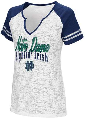 NCAA Women's Campus Heritage Notre Dame Fighting Irish Notch-Neck Raglan Tee