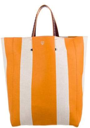 MCM Canvas Shopper Tote