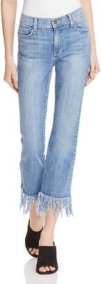 Pistola Tallis Comfort Crop Flare Jeans in Aquarius Fray $98 thestylecure.com