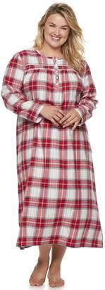 Croft & Barrow Plus Size Flannel Nightgown