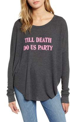 Wildfox Couture Till Death Do Us Party Thermal Tee